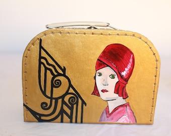 Hand Pinted Hand bag/ purse/clutch/ little case