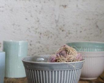 Salad Bowl, Modern Ceramic Gray Bowl, Mixing Bowl, Serving Bowl ,Housewarming Gift, Ready To Ship!!!