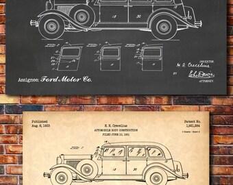 Ford Patent Print Art 1933