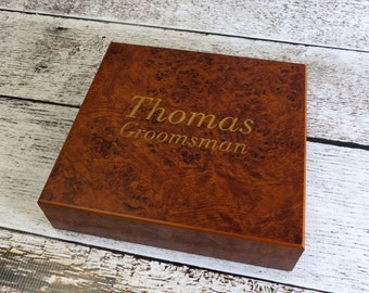 Personalized Humidor and Keepsake Box- Groomsmen Gift - Best Man - Gifts for Men
