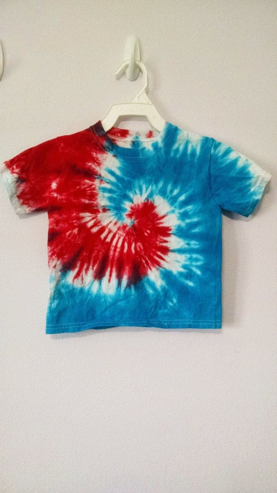 3t Red White And Blue Tie Dye T Shirt By Keeblycreations