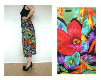 Handmade floral skirt - midi skirt