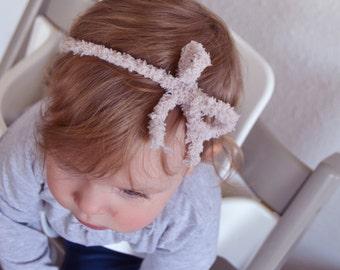 Headband node pink powder