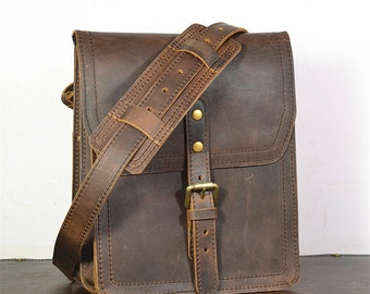 Vertical Leather Satchel Small Leather Messenger Bag Leather Ipad Bag Leather Pouch Leather Shoulder Bag Leather Cross Body Bag Mens Womens