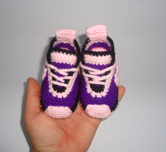 similar to Crocheted shoes, Nike shoes Baby, Childrens handmade shoes ...