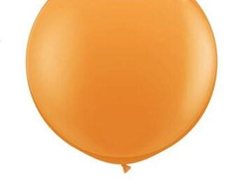 "36"" Round Solid ORANGE Color Balloon"