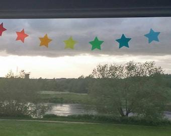 Rainbow Heart or Star Suncatcher Garland