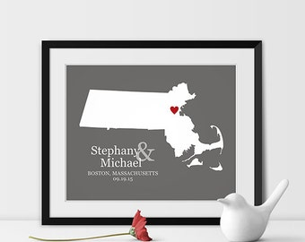Valentines Day Gift for Him Men Husband Anniversary Gift For Husband Wedding Anniversary Gifts For Men Him, Wedding Map Art, Any STATE