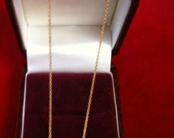 """14 K Yellow Gold Chain. 1.5 Gm. 16"""" Long."""