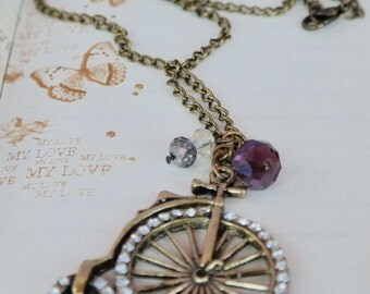Bicycle Necklace & Glitter