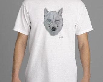 Spirit Wolf Print Men's T-Shirt