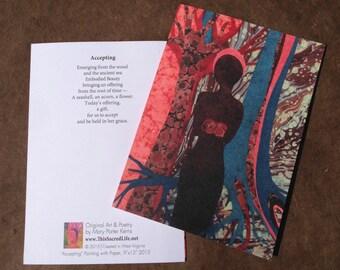 Fine Art Notecard - Accepting
