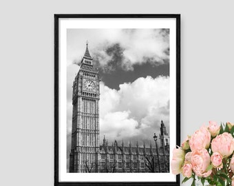 London Print Architectural London Art black and white London Big Ben Architectural Instant Download Fine Art Photography London