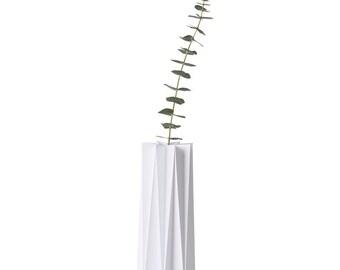 Origami cover vase - White Large