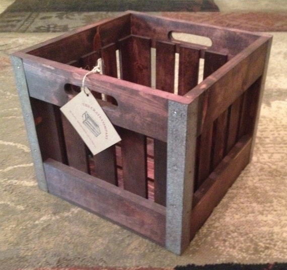 Old fashioned style milk crate 15l x 15w x 12d by thecrateco for Where can i buy wooden milk crates
