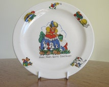 Beswick Nursery plate, Mary Mary Quite Contrary, vintage children's