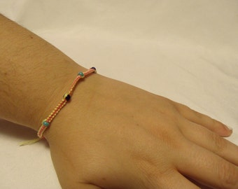 Yellow, Pink, and Blue Bracelet