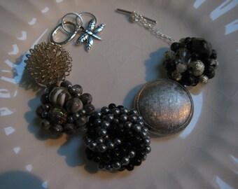 Vintage Earring Bracelet (23) Repurposed, Vintage Earrings, Wedding, Bridesmaid, Bride