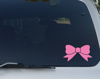 Hair Bow Tie Decal Bumper Window Sticker for Car, Laptop, Macbook, Tablet