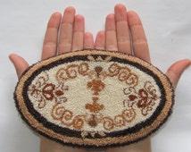Dollhouse Miniature 1:6 Scale Rug/Carpet Handmade Punch Needle