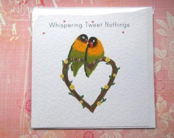 Valentine's Day Love Birds Greetings Card