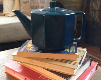 Dark Blue Ceramic Teapot