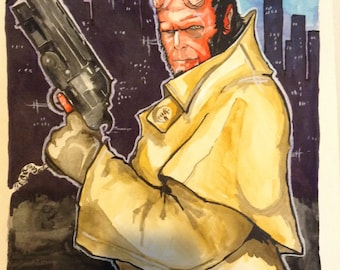 Hellboy watercolor