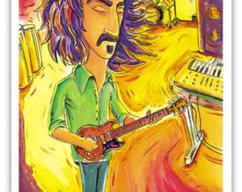 "Frank Zappa Art Print - Limited Edition - 11"" x 17"""