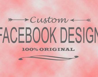 Custom Facebook Business Page Branding Set - Original Facebook Timeline Image and Profile Image to Match your Logo