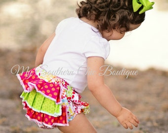 Ruffle Bloomers- Ruffle diaper cover- Girls bloomers