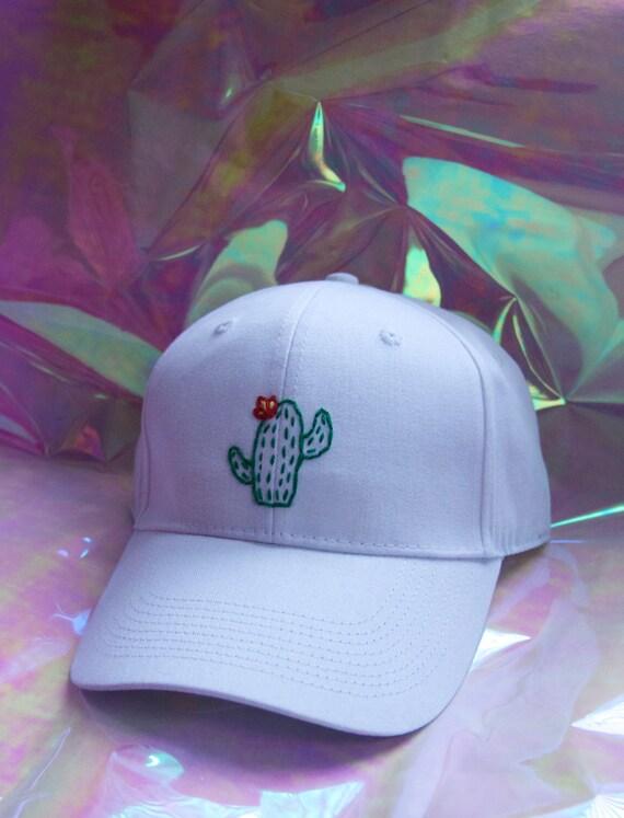 Embroidered cactus baseball cap