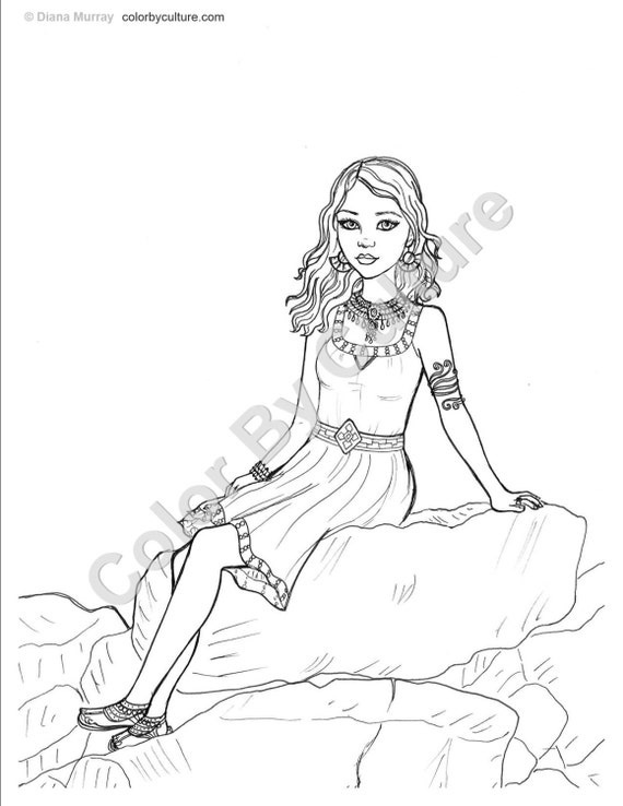 Fashion Coloring Book African Inspired Fashions To Color