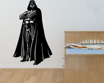 New Star Wars Darth Vader Wall Decal Black Wall Stickers Large 94cm X 58cm