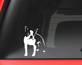 Boston Terrier (AO6) Vinyl Decal Sticker Car/Truck Laptop/Netbook Window