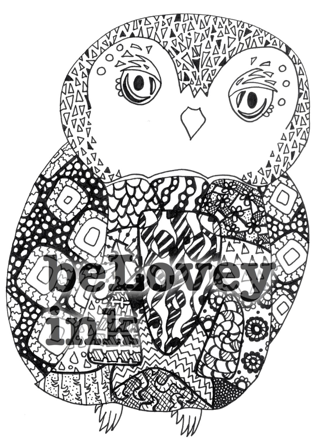 Baby Owl coloring page printable sheet download for by belovey
