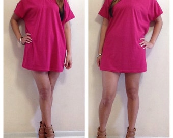 Cold Shoulder T-Shirt Dress / Cold Shoulder / T-Shirt Dress / Beachwear / Coverup / Casual Dress / Summer Dress / Comes in More Colors