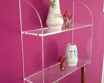 Plexiglass shelf - nice shape - fits in every room - for the vintage fan