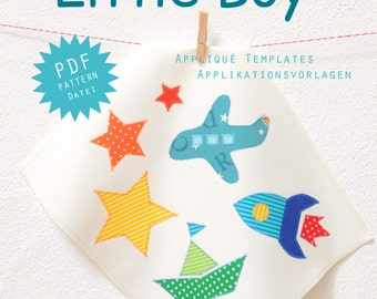 PDF Applique Templates - Star, Rocket, Airplane, Boat