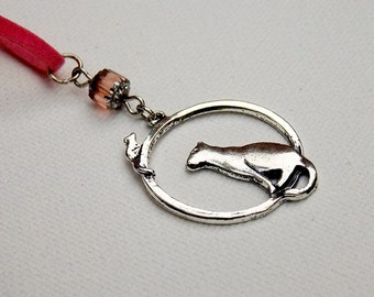 Cat & Mouse Circle Necklace // The Cat Lady Statement