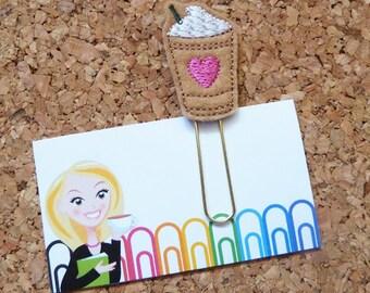 Felt Frappuccino Bookmark | Coffee Paper Clip | Planner Clip | Organizer | Calendar | Planner Accessory | Filofax | 312