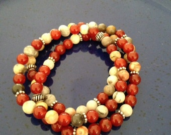 Healing Red agate with crazy lace agate