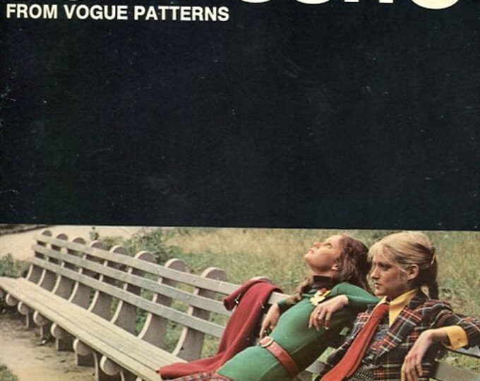FREE US SHIP Vogue Book Everything about Sewing Pants & Jumpsuits Vintage Retro 1970's 70's 1972 Sewing Pattern Booklet