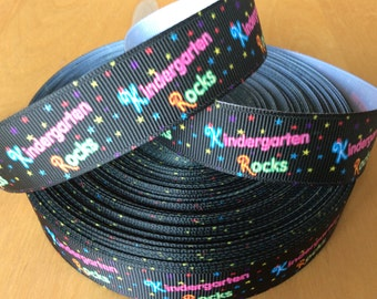 "Kindergarden Grosgrain Ribbon - 7/8"",  School Ribbon"