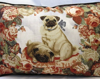 15 x 22 inch Pug pillow cover