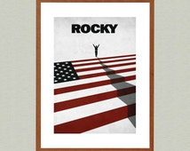 Rocky- Movie Poster, Film Poster, Minimalist Print, Original Wall Art, Home Decor