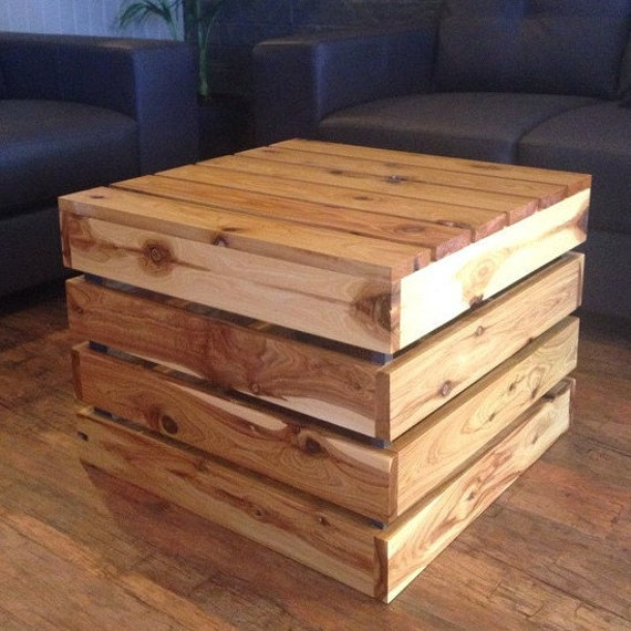 crate style coffee table by mapleandmay on etsy
