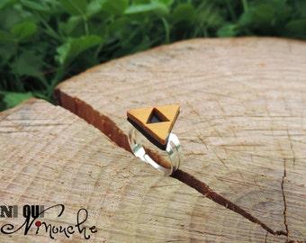 Triforce zelda (fimo) geek ring