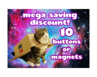 Discount listing 10 buttons or magnets 1.5 Inch