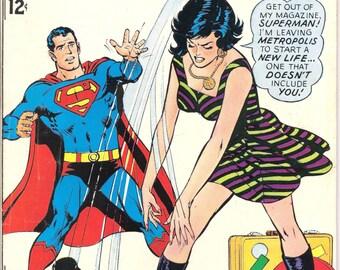 Lois Lane 80, Superman comic book, Break up, Splitsville, Female Superhero, Vintage Silver Age, Neal Adams. 1968 DC Comics in VF- (7.5)