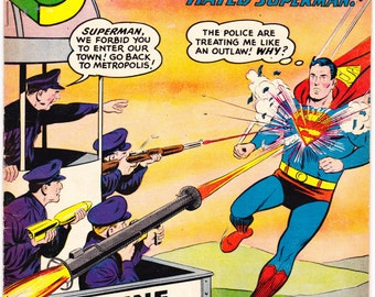Superman 130 comic book, 2nd Krypto the Super Dog. Lois Lane, Vintage Silver Age, Superdog, Man of Steel, 1959 DC Comics in FN (6.0)